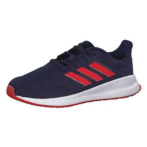 adidas Unisex-Kinder Runfalcon K Traillaufschuhe, Mehrfarbig (Azuosc/Rojact/Negbás 000), 37 1/3 EU