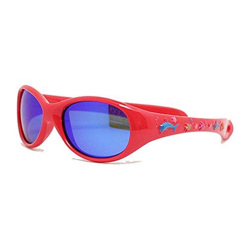 Ouqian Gafas de Sol para Niños Impresión de Dibujos Animados Gafas de Sol polarizadas for niños y niñas con protección UV for niños para el Niño (Color : Red)