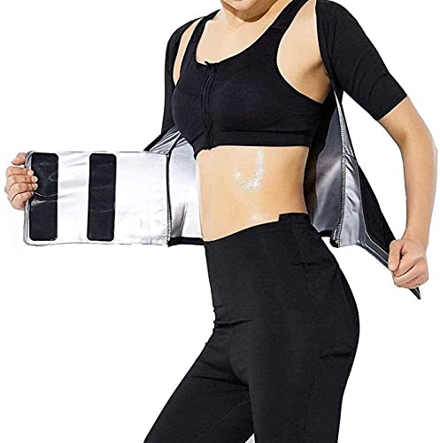 Mujeres Sauna Slim Hot Sweat Suit Tops Slim Fitness Pérdida De Peso Camisa De Entrenamiento De Cintura Entrenamiento Deportivo Cuello En U Yoga Chaqueta De Abrigo De Manga Larga