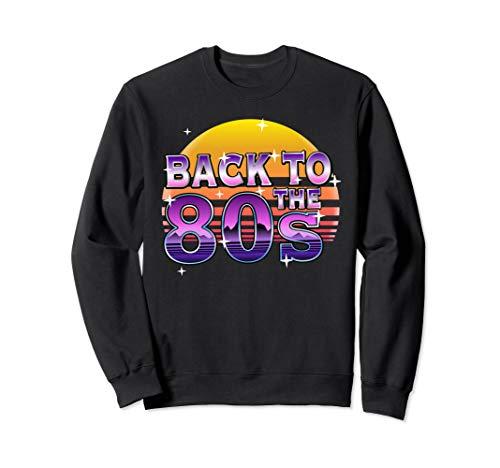 Back to the 80s Sunset Sweatshirt, Unisex, S to 2XL