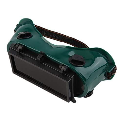 Schutzbrille mit aufklappbaren Gläsern zum Schneiden Schleifen Schweißen, Augenschutz, Arbeitssicherheit, Grün