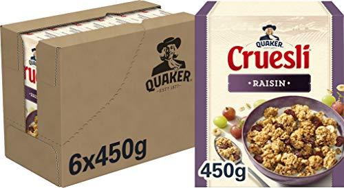 Quaker Cruesli Rozijn, Doos 6 stuks x 450 g