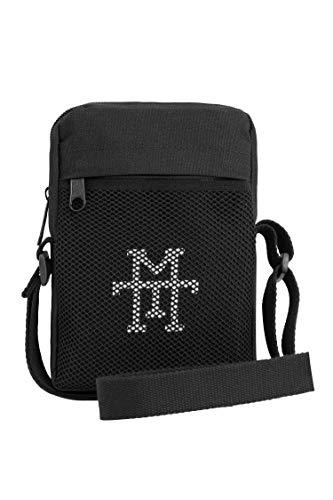 Pocket Pusher Bag - schoudertas waterafstotend, schoudertas, borstzak met kijkvenster, kleine borstzak crossbody reistas met verstelbare schouderriem voor heren en dames, black out (zwart) - PPB