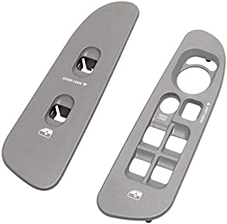 BASIKER Driver & Passenger Taupe Door Window Switch Panel Bezel Compatible with Dodge 2002-2010 Ram 1500 2500 3500 Front Right & Left Seat