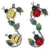 Lrxinki Wespe Wanddekoration Metall, Metal Bee Wanddekoration,Biene Gartendeko Rost, Hing An Der Wand, Garten Geschenke Hummel, Rost Deko FüR Garten, Balkon Deko, Deko Schlafzimmer (A+B)