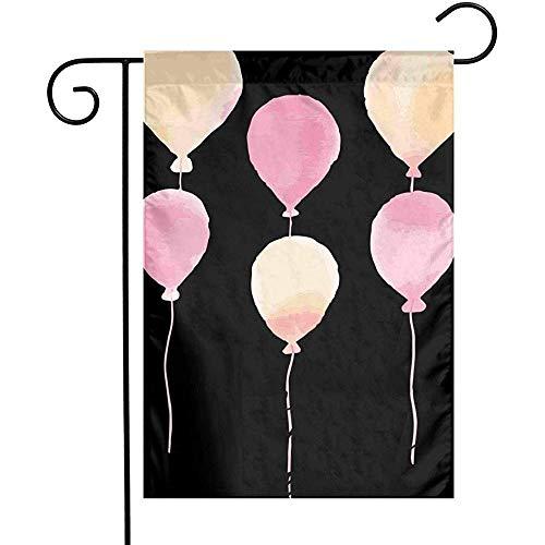 qinzuisp Yard Banner Aquarel Ballonnen Tuin Vlaggen Thuis Indoor Outdoor Welkom Decoraties Party Dubbele Zijde Decoratieve Banner Yard Game Familie