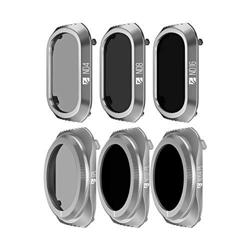 Freewell Budget Kit -E Serie - 6Pack ND4, ND8, ND16, CPL, ND32/PL, ND64/PL Objektivfilter Kompatibel Mit Mavic 2 Pro Drone