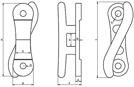 4 2 12 or 15 Pack Size 1 6 and 10 Corrosion Resistant MarineNow Cast Aluminum S Dock Cleat 10