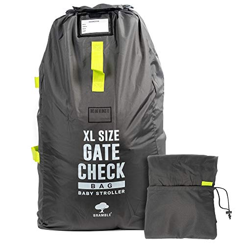 Extra Large Airplane Gate Check Travel Bag for Strollers, Prams, Car Seats, Pushchairs, Boosters, Wheelchairs| Durable & Waterproof - Easy to Carry & Identify at Airport Baggage Carousel.