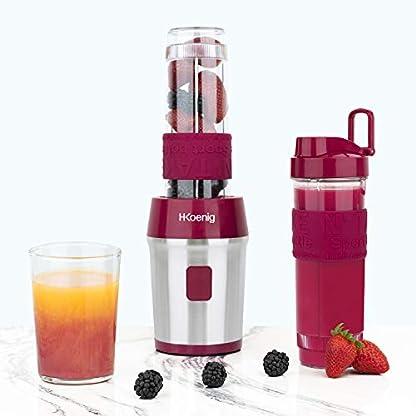 Mini-MixerSmoothiemakerkompakt-570-ml-HKoenig-SMOO10-BPA-freeleistungsstark-300-W-4-Edelstahlklingen-2-Flaschen-mit-Reisedeckel-inklusive