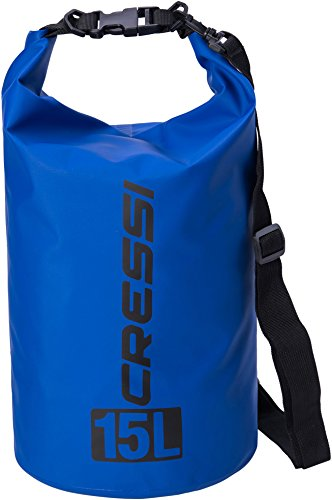 Cressi Dry Bag Mochila Impermeable para Actividades Deportivas, Unisex Adulto, Azul Oscuro, 15 L