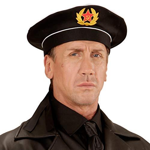 Amakando Authentische Kapitäns-Mütze Russischer Marine Offizier / Schwarz / Russische Seemannsmütze Matrose / Perfekt geeignet zu Fasching & Karneval