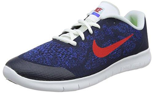 Nike Free RN 2017 (GS), Zapatillas de Entrenamiento para Niños, Azul (Obsidian/University Red-Racer Blue-Photo Blue 405), 35.5 EU