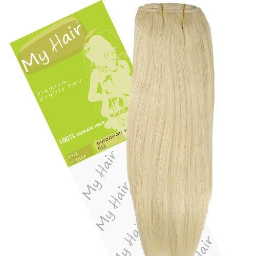 Dream Girl Extensions de cheveux sur trame européenne Couleur 613 35,5 cm