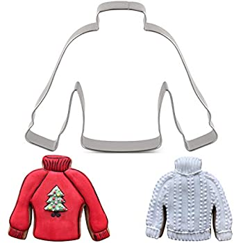 LILIAO Christmas Winter Ugly Sweater Cookie Cutter - 4.2 x 3.2 inches - Stainless Steel