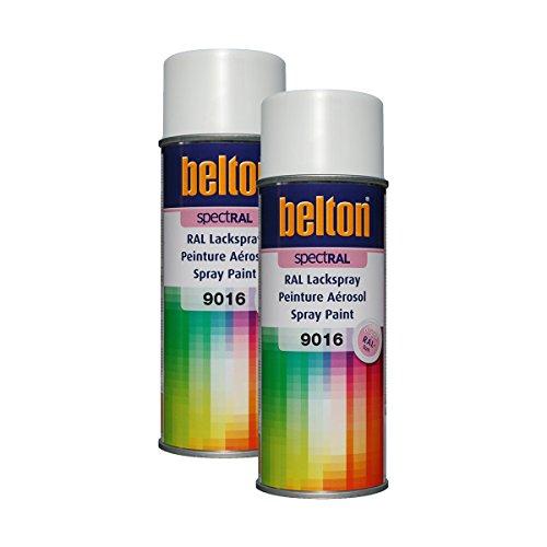 Kwasny 2 x 324 192 Belton Spectral Vernis en spray RAL 9016 Blanc brillant 400 ml