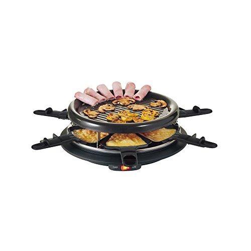 Set de raclette eléctrica para 6personas, bandeja grill Metal, incluye 6boles