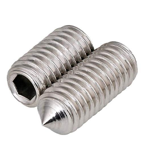 Roestvrij staal 304 / aanslagschroef/punt van de machine/zeskantschroef zonder kop, M8 * 16 (50 Tablets