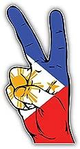 KW Vinyl Philippines Flag Hand Peace Sign Truck Car Window Bumper Sticker Decal 5