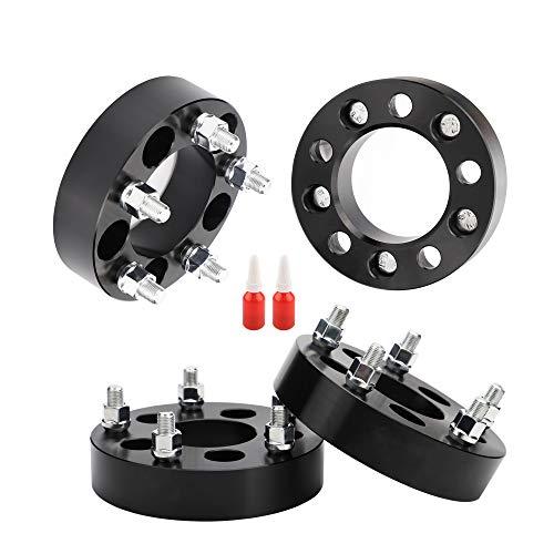 Rying 5x4.5 to 5x5 Wheel Adapter, 1.25 inch 5x114.3mm to 5x127mm Wheel adapters 71.5mm hub core 1/2 Thread Pitch Replacement for TJ XJ MJ YJ KJ KK ZJ onto JK Wheel. Thread-Locking Adhensives.