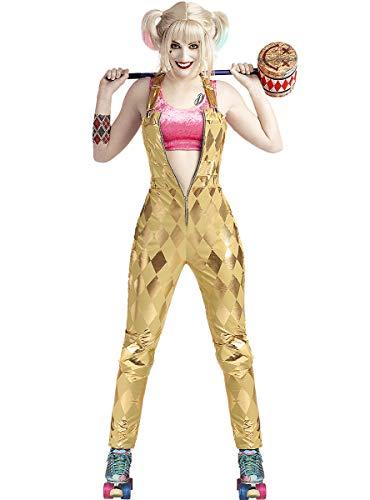 Funidelia | Disfraz de Harley Quinn - Birds of Prey Oficial para Mujer Talla S ▶ Superhéroes, DC Comics, Suicide Squad, Villanos - Color: Dorado - Licencia: 100% Oficial