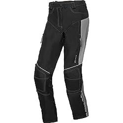 DXR Motorradhose Damen Sommer Textilhose, Verbindungsreißverschluss, 2 Einschub-, 2 Gesäßtaschen, Taschen für Knie-, Hüftprotektoren, Grau, S