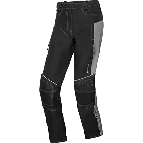 DXR Motorradhose Damen Sommer Textilhose, Verbindungsreißverschluss, 2 Einschub-, 2 Gesäßtaschen, Taschen für Knie-, Hüftprotektoren, Grau, XL