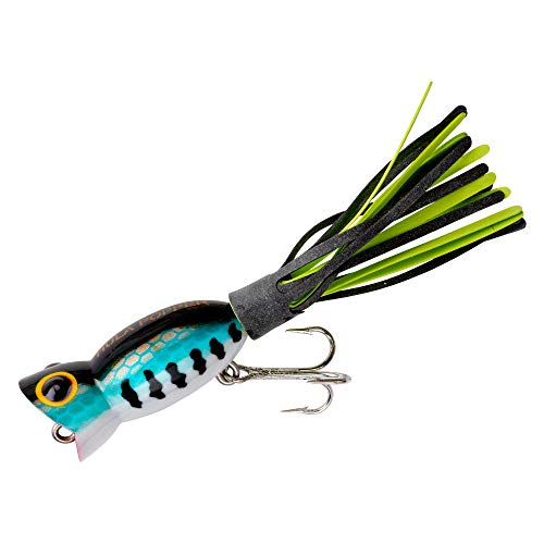 Arbogast Hula Popper Topwater Fishing Lure, Bass, G770 (1 3/4 in, 1/4 oz)