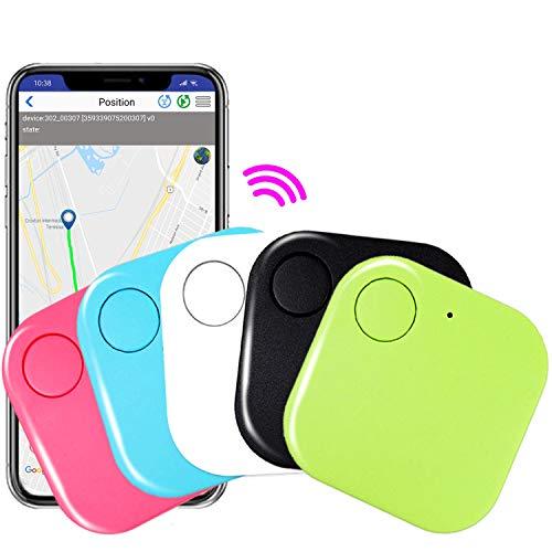 5 Pack Key Finder Smart GPS Tracker - Key Tracking Device Anti-Lost Alarm with Application for Kids Pet Phone Keychain Wallet Luggage Bag Item Finder Selfie Shutter Wireless Seeker