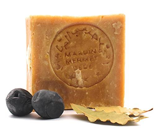 Original Aleppo Seife, 60% Olivenöl 40% Lorbeeröl, ca.200g, Handmade, Vegan, Naturprodukt, Haarseife, Duschseife, Original Rezeptur