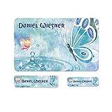 Sunnywall® Schmetterling Butterfly Namensaufkleber Stife-Aufkleber Federmappe Kinder & Erwachsene Namen