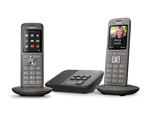 Gigaset CL660A Duo - Téléphone fixe sans fil - Répondeur - 2 combinés - Gris Anthracite