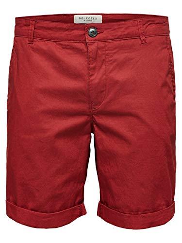 SELECTED HOMME Herren SLHSTRAIGHT-Paris W NOOS Shorts, Rot (Brick Red Brick Red), W(Herstellergröße: S)