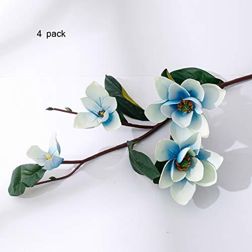 Sarazong Fleur de Magnolia Artificielle, Fleur éternelle Arrangement de Fleurs Plancher Décoration Salon Ameublement Faux Fleur Fleur Artificielle,B