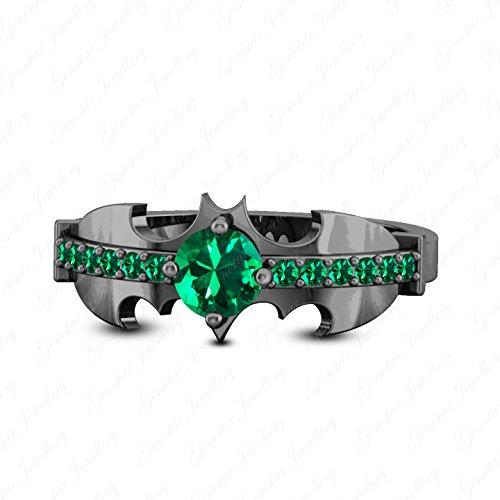 Sterling Silver Womens Harley Quinn Engagement Batman Ring