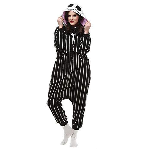 Pijamas Enteros Esqueleto Cosplay Adulto Ropa de Dormir