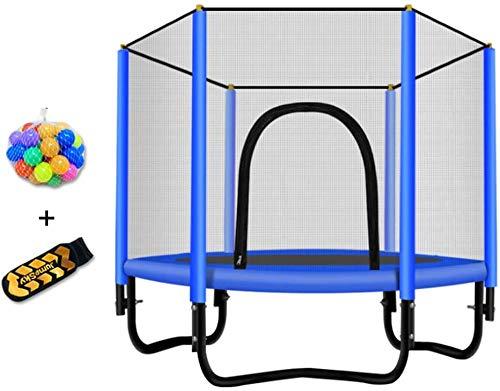 MUZIDP Trampolín con Red de gabinete, Mini Mini Plegable Fitness trampolín Ejercicio trampolín Rebote de Primavera para niños, Pero lo Suficientemente Divertido (Color : Style 2, Size : 60in)