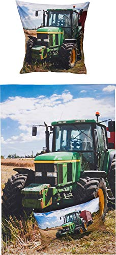 Erwin Müller Bettwäsche Traktor Renforcé bunt Größe 135x200 cm (80x80 cm)