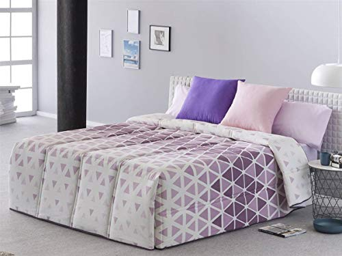 Sansa - Comfort Kansas Bett 180 - Lila Farbe