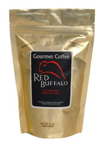 Red Buffalo Amaretto Flavored Decaf Coffee, Whole Bean, 1 pound