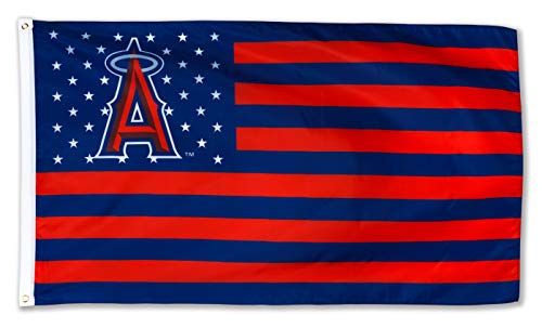 N CENTS 3x5 Foot Flag for Los Angeles Angels Baseball Team Fan Stars ans Stripes Polyester Banner with Brass Grommets 3 X 5 FT