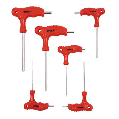Am-Tech - Set di chiavi esagonali con manico a T (6 pezzi)