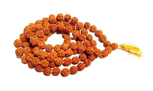 IndianStore4All Energised 5 Mukhi Faced Rudraksh Mala -Rudraksha 6.5mm 108 Beads- Certified - Energised -Diwali Spiritual Yoga