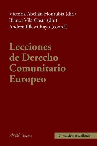 Lecciones de Derecho Comunitario Europeo (Ariel Derecho)