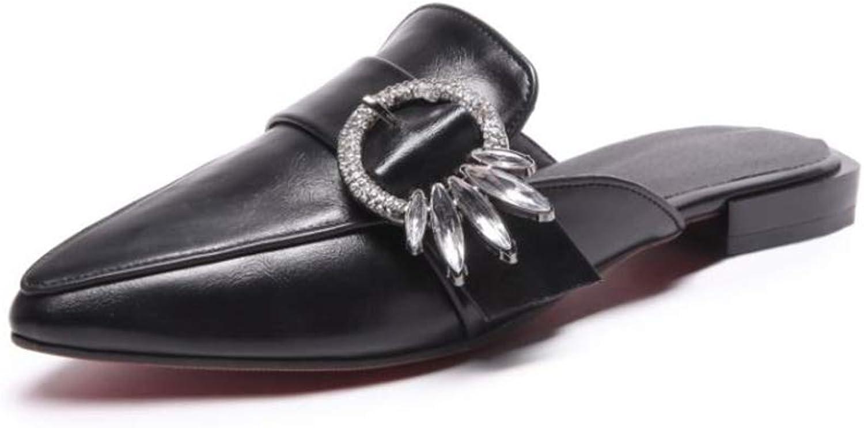 Fancyww Women's Pointed Toe Casual Slipper Loafer Mule