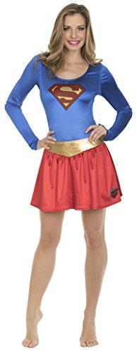 DC Comics Superman Bodysuit and Skirt Costume Set (Adult Medium)