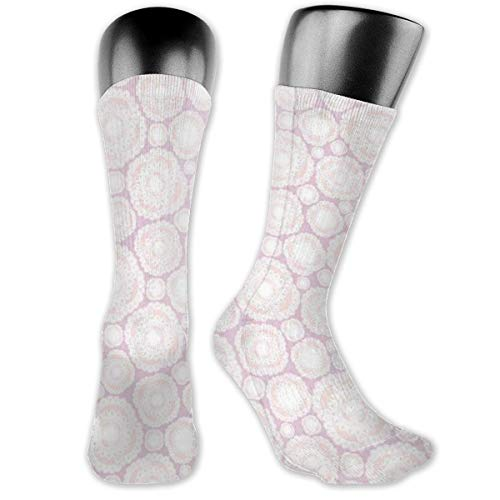 Papalikz Compression Medium Calf Socks,East Culture Design Circle Meditation Ethnic Traditional Universe Archaic