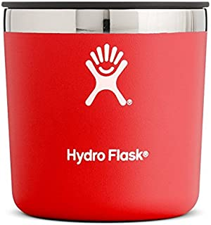 Hydro Flask 10 oz Rocks Cup- Stainless Steel & Vacuum Insulated - Whiskey Glass Press-In Lid - Lava