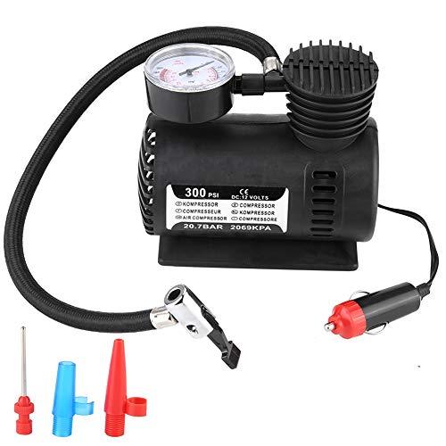 Inflador durable del compresor de aire, inflador inalámbrico negro del neumático incorporado encendedor de cigarrillos plástico de alta calidad