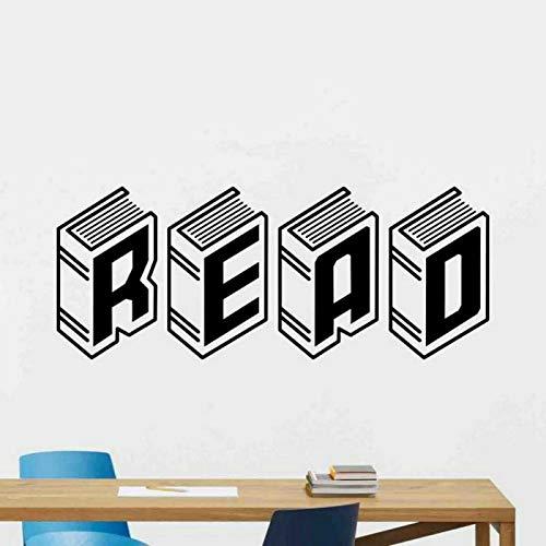 Pegatinas de pared de vinilo de lectura lectura pared de niños citas inspiradoras pegatinas de pared de vinilo de actitudes positivas